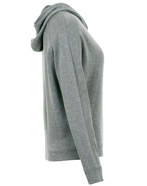 quality design b7314 078a2 WOOLRICH Hoodie Cotton Modal Grau | STAKKS